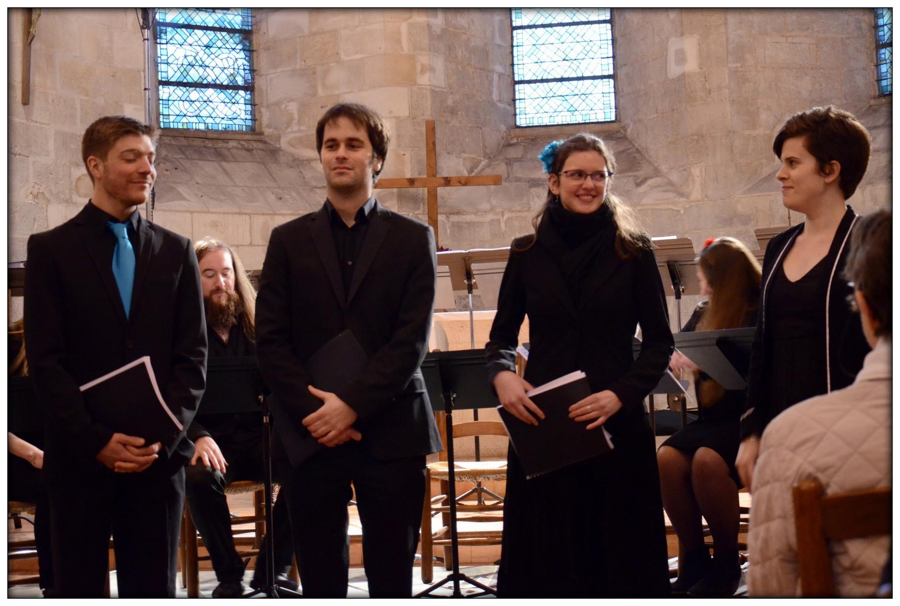 Quatuor Impact : Thierry, Christophe, Anne-Laure et Pascaline