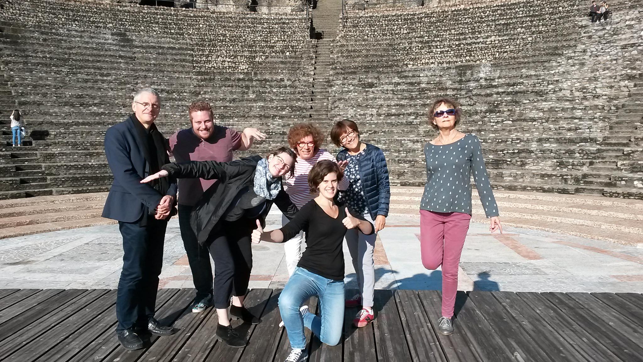 Patrice, Matthias, Anne-Laure, Mathilde, Pascaline, Pascale et Nicole à Lyon