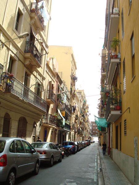 Calle en La Barceloneta