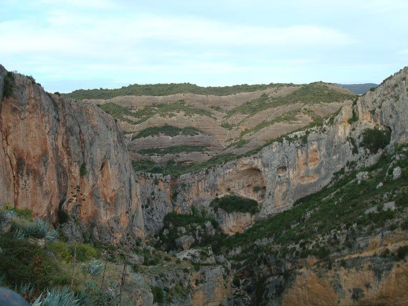 Cañón del rio Vero, bajo el castillo
