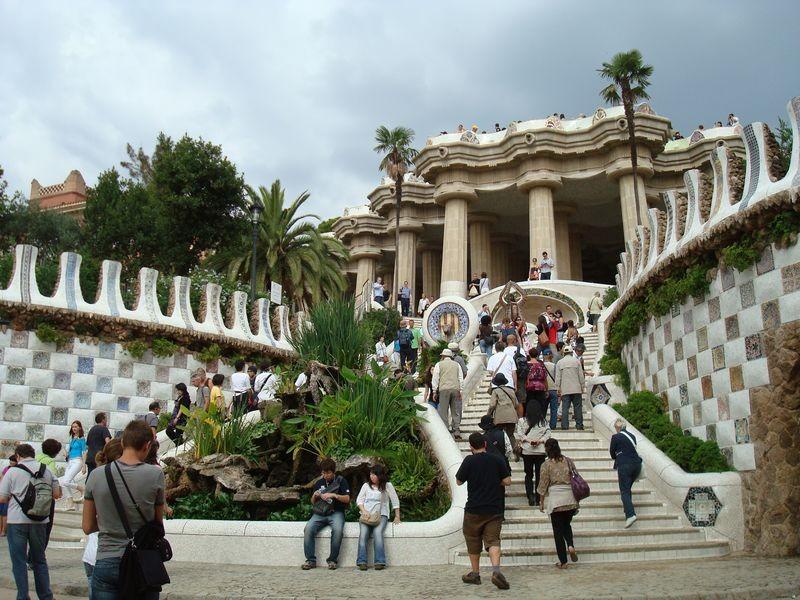 Escalinata con las fuentes