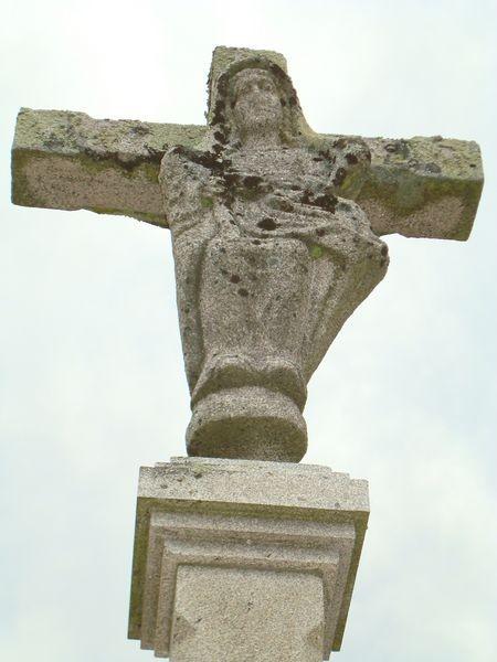 Cruceiro en cimeterio Campanario, Bamio, Vilagarcia de Arosa  (detalle)
