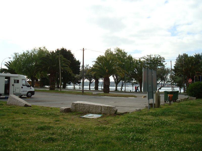 Vista de la playa y la entrada