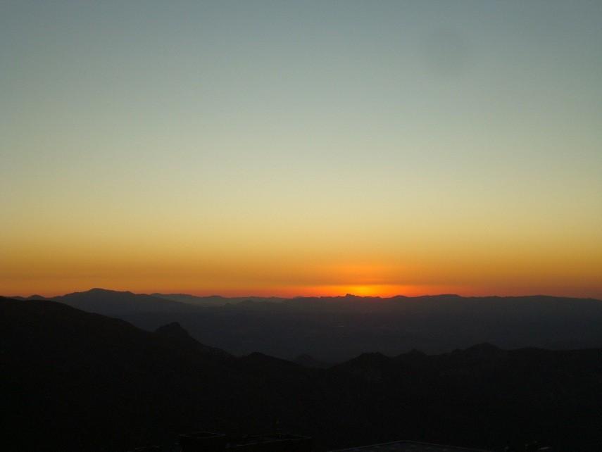 Puesta de sol desde el Area
