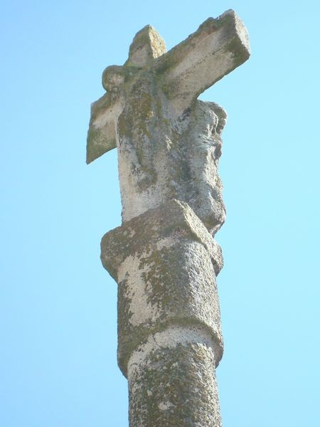 Cruceiro Excolegiata Sta. María, Baiona, detalle