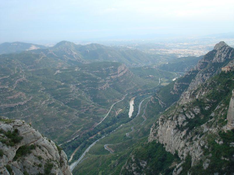 Montserrat, valle del Llobregat