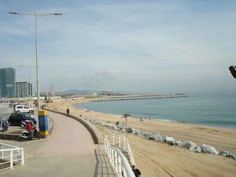 Platja de la Mar Bella hacia El Forum