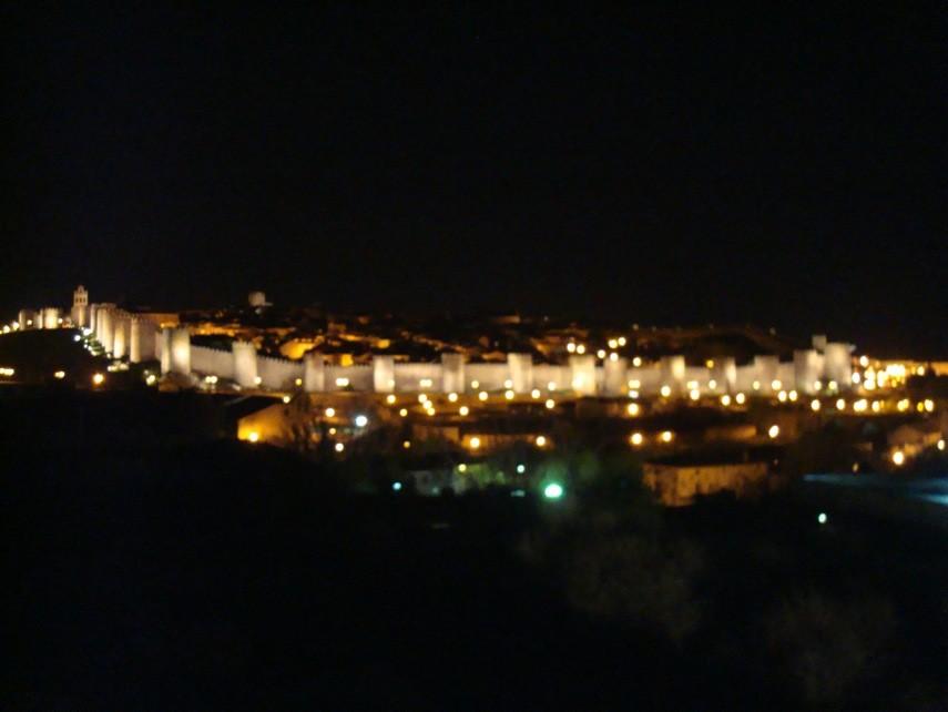 Vista nocturna desde Los Cuatro Postes