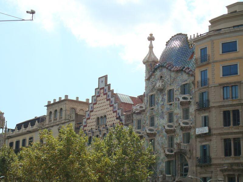 Conjunto Casa Batlló,Amatller y Lleó Morera