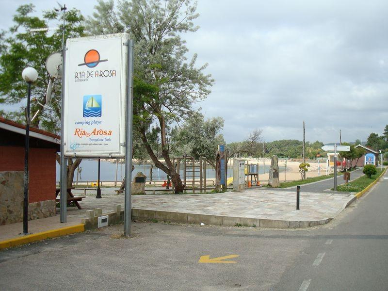 Vista de la Playa de Cobio desde la entrada