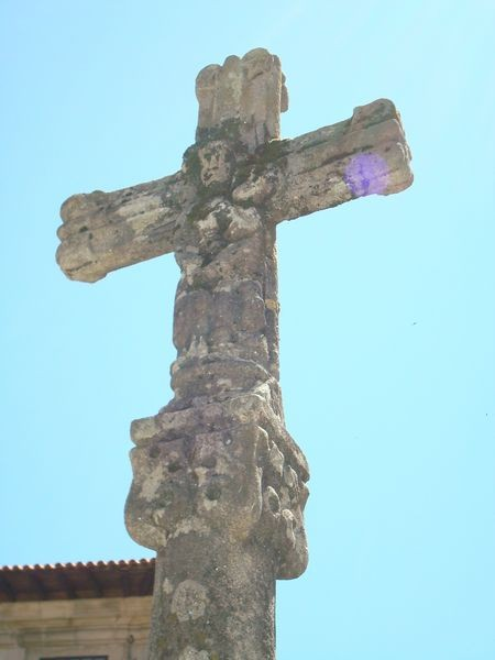 Cruceiro en Pontevedra, Plaza de La Leña, detalle