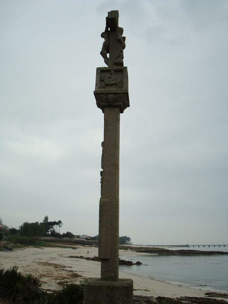 Cruceiro Playa Barcas, Coruxo, Vigo, detalle