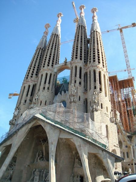 Temple de la Sagrada Familia, fachada de la Pasión