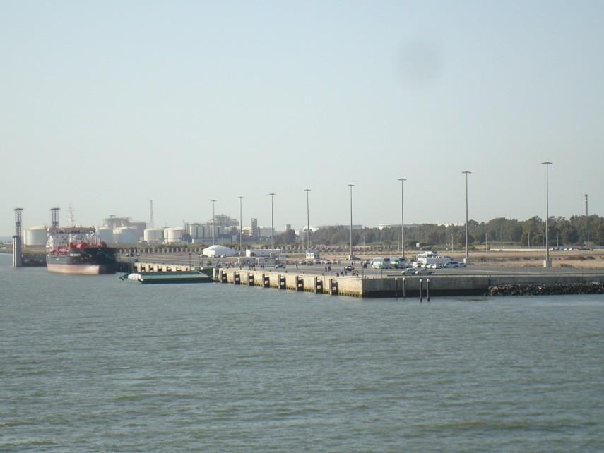 Punto de atraque en Huelva