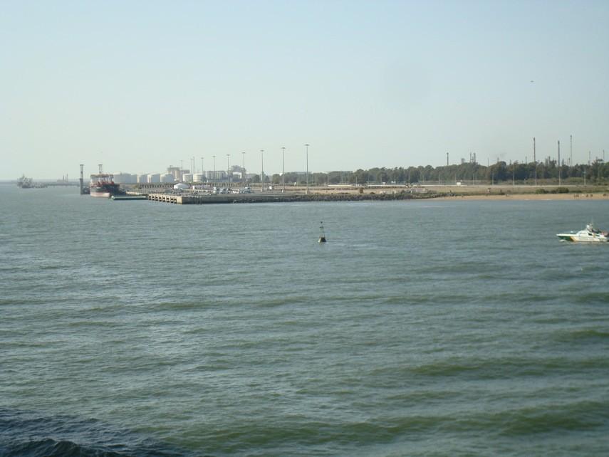 Entrando en la Ría de Huelva