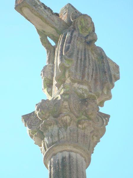 Mosteiro Poio, Cruceiro principal alameda, detalle