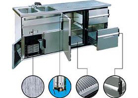 Kühltheken und Zapfanlagen für Theken und Tresen im Gaststätten-Innenausbau und Ladenbau