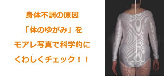 名古屋のよく効く整体の体のゆがみチェック:川井筋系帯療法式・名古屋センター(ふくやす整体院)