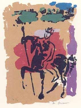 16.- Manuel Barnuevo (Ulises),  Serigrafía de  43 x 31 cms.