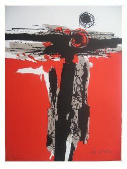 9.- Océana,  Litografía, mancha 47 x 34,5 cm., soporte 47 x 34,5 cm.