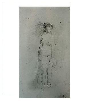 7.- Eduardo Vicente In Memoriam (VII), Punta seca y Aguafuerte, mancha 12,5 x 17,5 cm., soporte 37,5 x 27 cm.