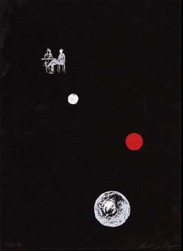 9.- Historia de detectives,  Serigrafía de  43 x 31 cms.