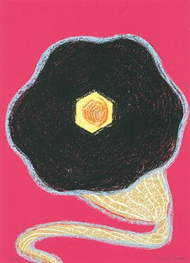 7.- Floraleza,  Serigrafía de  43 x 31 cms.