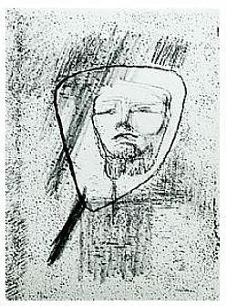 11.- Estaba tan embebido, Litografía, 49  x 35 cm., soporte 49 x 35 cm.