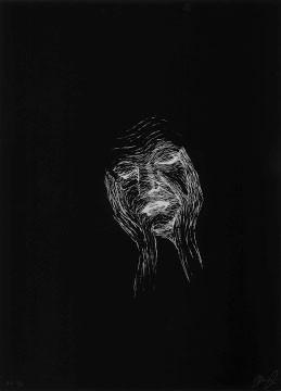 5.- El Bebedor de Lágrimas,  Serigrafía de  43 x 31 cms.