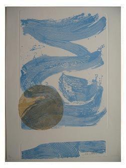 10.- Océana,  Litografía, mancha 47 x 34,5 cm., soporte 47 x 34,5 cm.