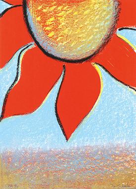 8.- Floraleza,  Serigrafía de  43 x 31 cms.