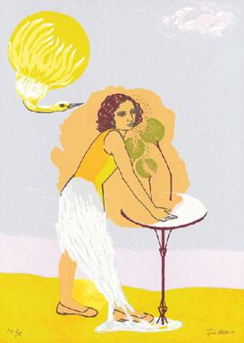 17.- Rosa Vivanco,  Serigrafía de  43 x 31 cms.