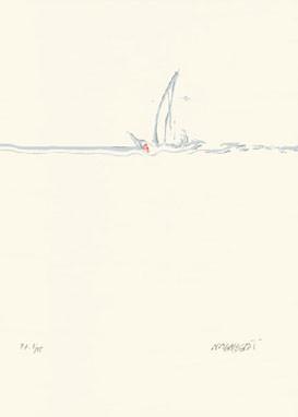16.- Mercedes Alberdi,  Serigrafía de  43 x 31 cms.