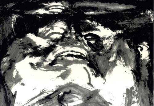 9.- Frankenstein,  Serigrafía de  43 x 31 cms.