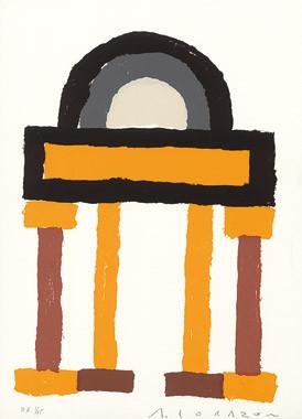 15.- Damasco Suite,  Serigrafía de  43 x 31 cms.