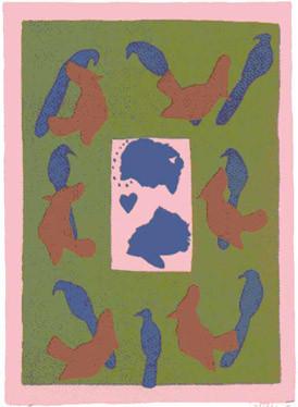 4.- Infierno,  Serigrafía de  43 x 31 cms.