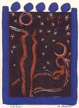 21.- Manolo Belzunce (Ceres),  Serigrafía de  43 x 31 cms.