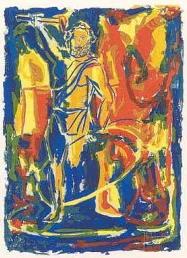 23.- Manolo Belzunce (Plutón),  Serigrafía de  43 x 31 cms.