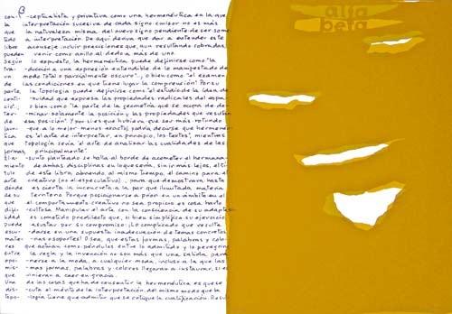 2.- Topología hermenéutica, o bien hermenéutica topológica, Serigrafía de  43 x 31 cms.
