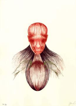 13.- El Bebedor de Lágrimas,  Serigrafía de  43 x 31 cms.