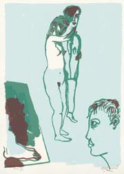 11.- La obra maestra desconocida, Serigrafía de  43 x 31 cms.