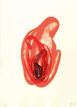 10.- El Bebedor de Lágrimas,  Serigrafía de  43 x 31 cms.