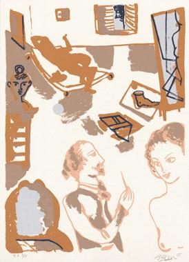 2.- La obra maestra desconocida, Serigrafía de  43 x 31 cms.