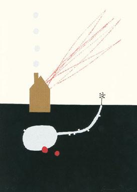 7.- Eva Poyato,  Serigrafía de  43 x 31 cms.