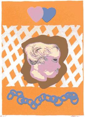 17.- Paraíso,  Serigrafía de  43 x 31 cms.