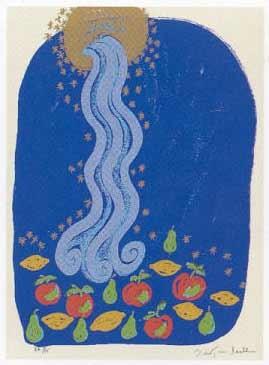 7.- El Cantar de los Cantares,  Serigrafía de  43 x 31 cms.