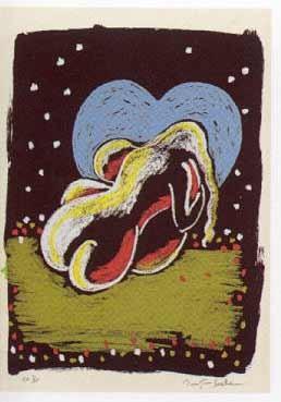 14.- El Cantar de los Cantares,  Serigrafía de  43 x 31 cms.