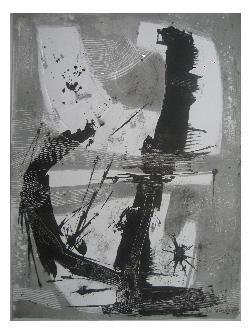 11.- Océana,  Litografía, mancha 47 x 34,5 cm., soporte 47 x 34,5 cm.