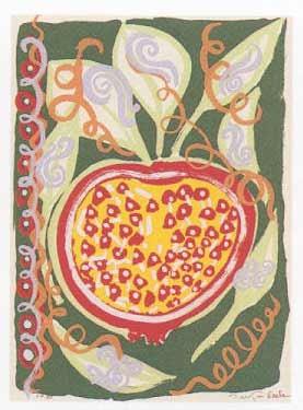 17.- El Cantar de los Cantares,  Serigrafía de  43 x 31 cms.