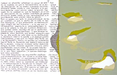 19.- Topología hermenéutica, o bien hermenéutica topológica, Serigrafía de  43 x 31 cms.